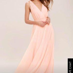 LuLus XS Blush Pink Bridesmaid Dress